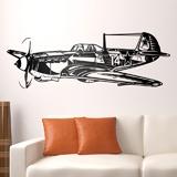 Wandtattoos: Zweiter Weltkrieg -Kampfflugzeug 3
