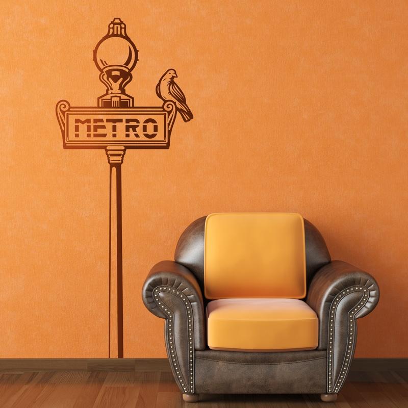 Wandtattoos: Paris Metro Zeichen