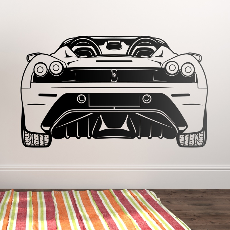 Wandtattoos: Ferrari F430, hinten