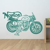 Wandtattoos: Klassisches Motorrad Norton 1