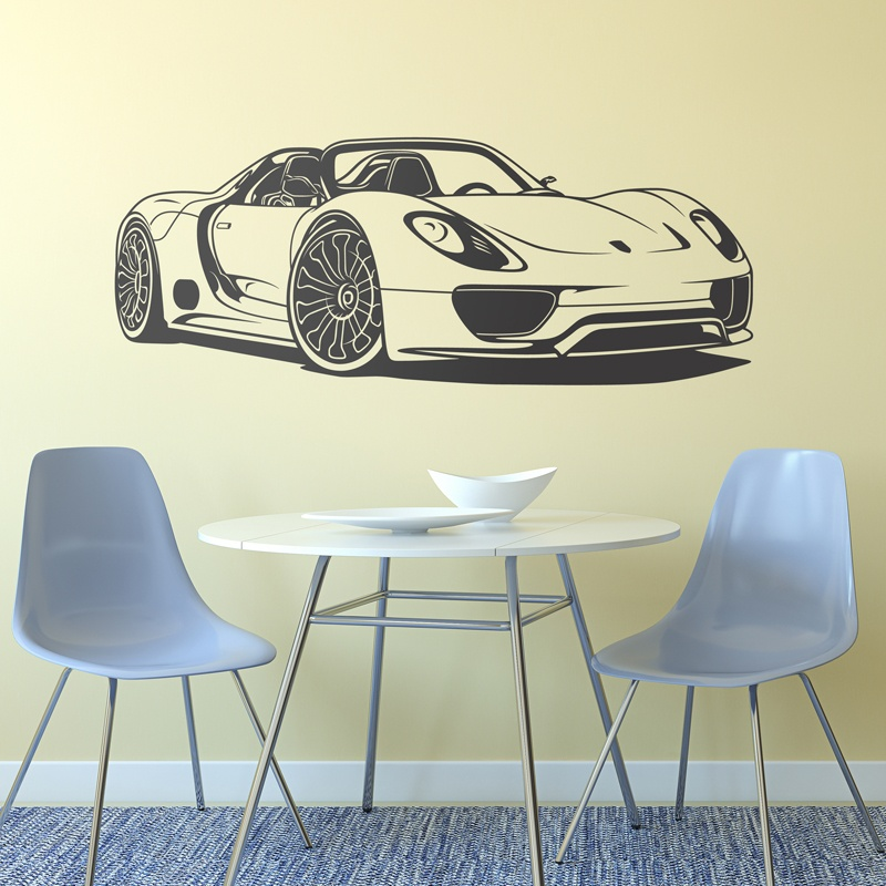 Wandtattoos: Porsche 918 Spyder