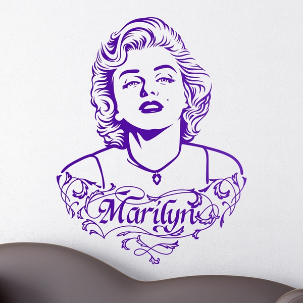 Wandtattoos: Marilyn Monroe Ornamente und Text