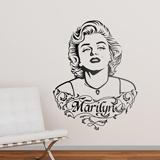 Wandtattoos: Marilyn Monroe Verzierungen und Text 1