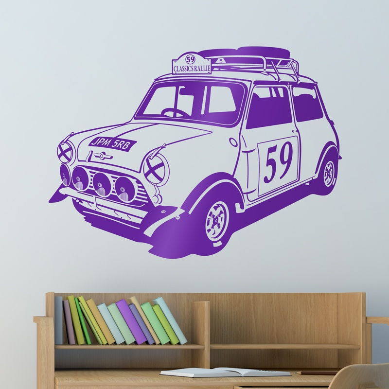 Wandtattoos: Mini Rally Classics der 60er Jahre