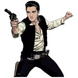 Wandtattoos: Elvis Han Solo 2