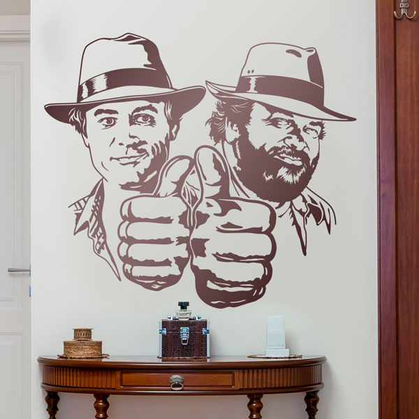 Wandtattoos: Bud Spencer und Terence Hill