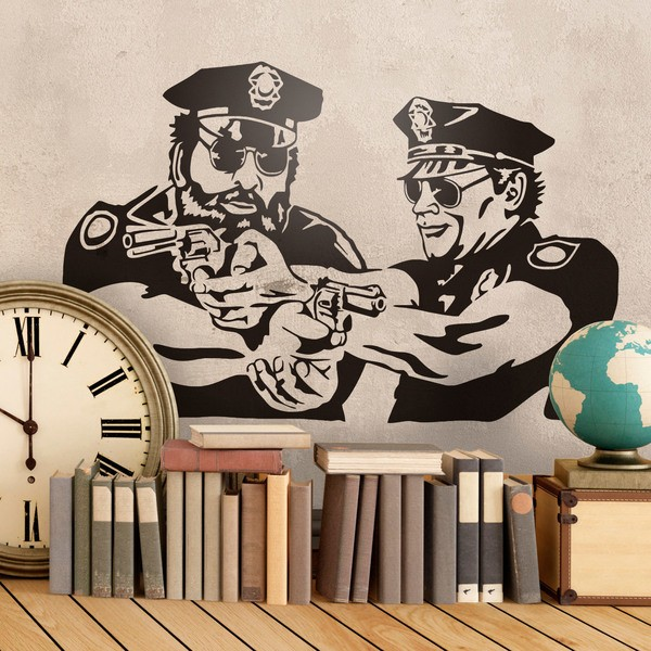 Wandtattoos: Bud Spencer und Terence Hill, Miami SuperCops