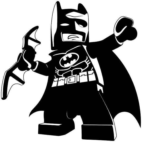 Wandtattoo kinder figur von lego batman for Braune klebefolie