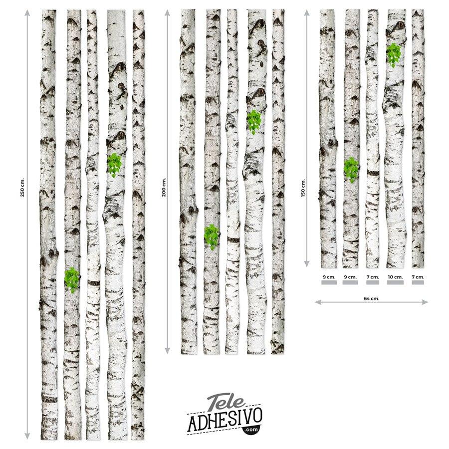 Wandtattoos: Kit 5 Birch logs