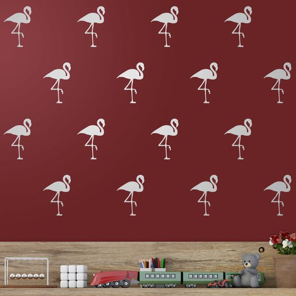 Wandtattoos: Kit 12 Flamingos