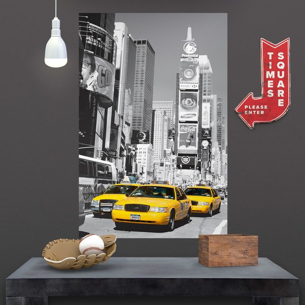 Wandtattoos: Poster Klebstoff Taxis in Times Square