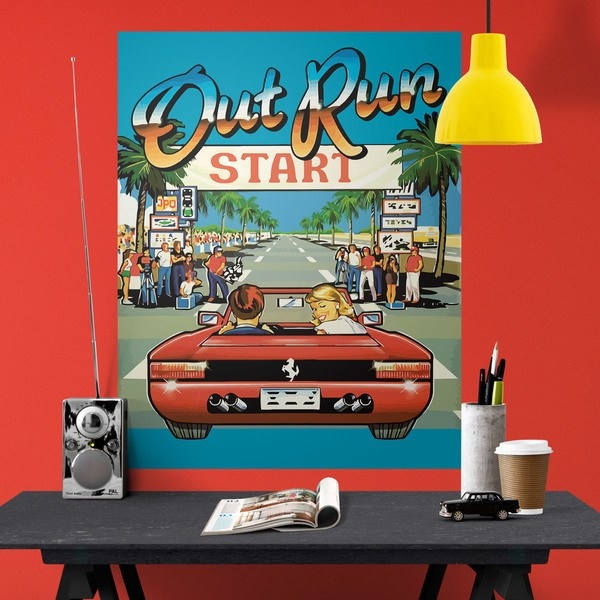 Wandtattoos: Poster Out Run Arcade
