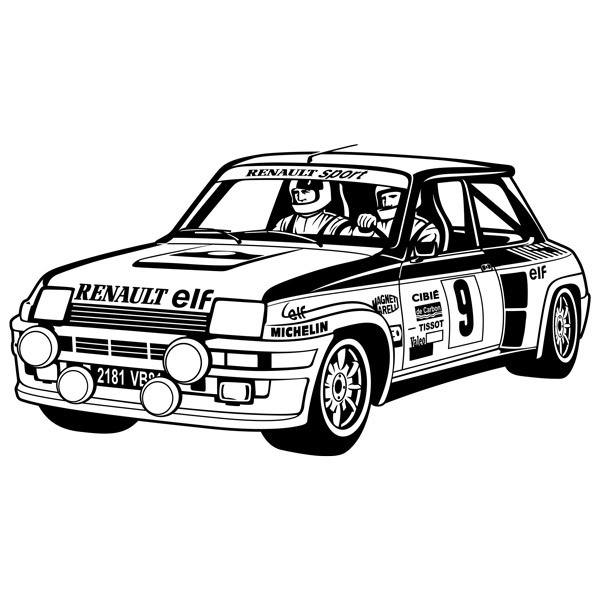 Wandtattoos: Renault 5 Turbo Rally