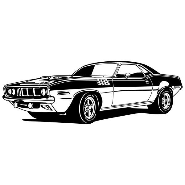 Wandtattoos: Ford Mustang Muscle Car