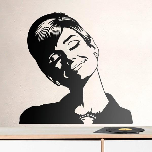 wandtattoo audrey hepburn tr umt. Black Bedroom Furniture Sets. Home Design Ideas
