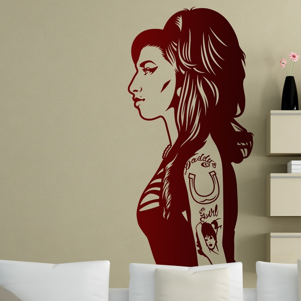 Wandtattoos: Amy Winehouse