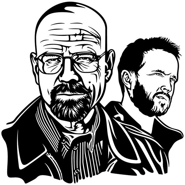 Wandtattoos: Breaking Bad Walter White und Jesse Pinkman