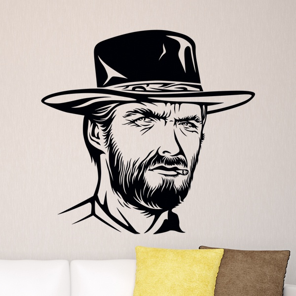 Wandtattoos: Clint Eastwood