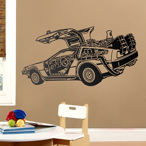 Wandtattoos: DeLorean (Back to the future)