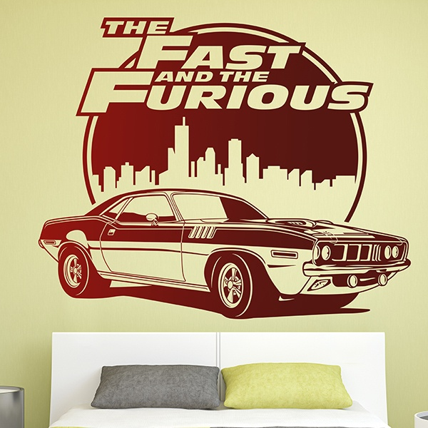 wandtattoo the fast and the furious. Black Bedroom Furniture Sets. Home Design Ideas