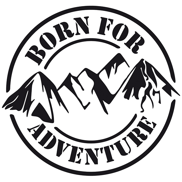 Wandtattoos: Born for Adventure
