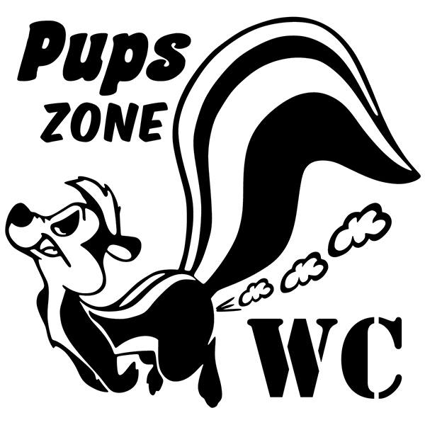 Wandtattoos: Pups zone WC