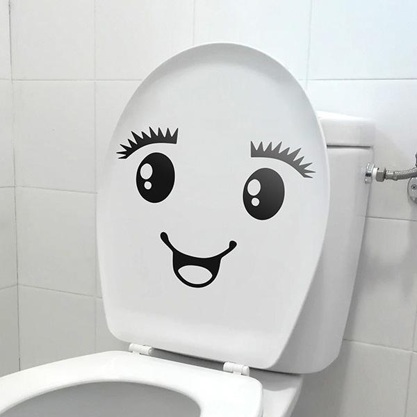 Wandtattoo badezimmer WC Lächeln | WebWandtattoo.com