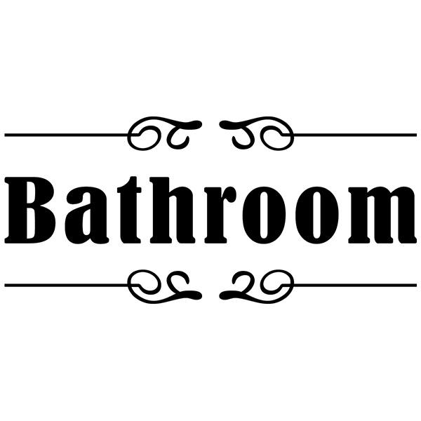 Wandtattoos: Beschilderung - Bathroom