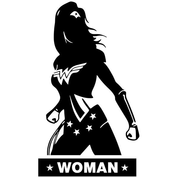 Wandtattoos: WC WonderWoman