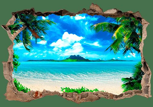 Wandtattoos: Loch Karibischen Strand