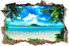 Wandtattoos: Loch Karibischen Strand 3