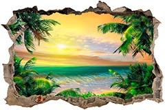 Wandtattoos: Loch Karibischen Strand 2 1