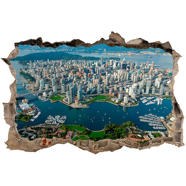 Wandtattoos: Stadt Vancouver