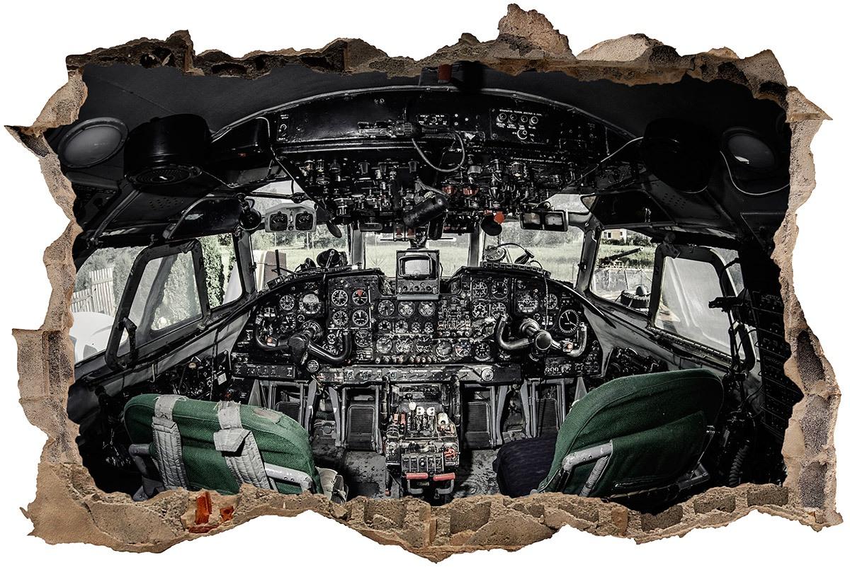 Wandtattoos: Loch Flugzeug-Cockpit