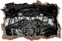 Wandtattoos: Loch Flugzeug-Cockpit 1