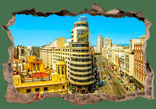 Wandtattoos: Loch Kapitol-Gebäude Madrid