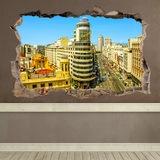 Wandtattoos: Loch Kapitol-Gebäude Madrid 0