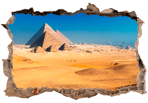 Wandtattoos: Loch Pyramiden von Gizeh