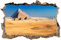 Wandtattoos: Loch Pyramiden von Gizeh 3