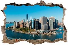 Wandtattoos: Loch Luftaufnahme von New York 3