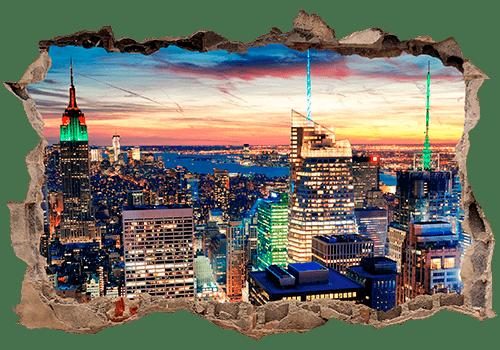 Wandtattoos: New York Nacht
