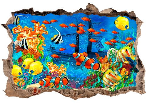 Wandtattoos: Loch Meeresboden