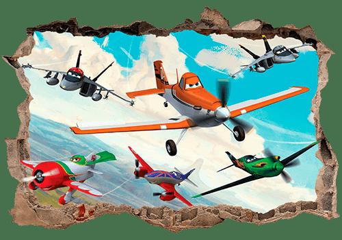 Wandtattoos: Loch Planes