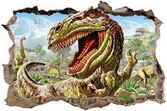 Wandtattoos: Loch Dinosaur 3