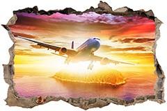 Wandtattoos: Loch Düsenflugzeug 3