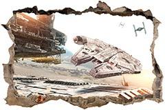 Wandtattoos: Loch Millennium Falcon Star Wars 1