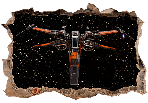 Wandtattoos: Loch X-wing Fighter 0