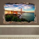 Wandtattoos: Loch Golden Gate San Francisco 0