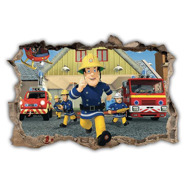 Wandtattoo kinder sam der feuerwehrmann - Feuerwehrmann sam wandtattoo ...