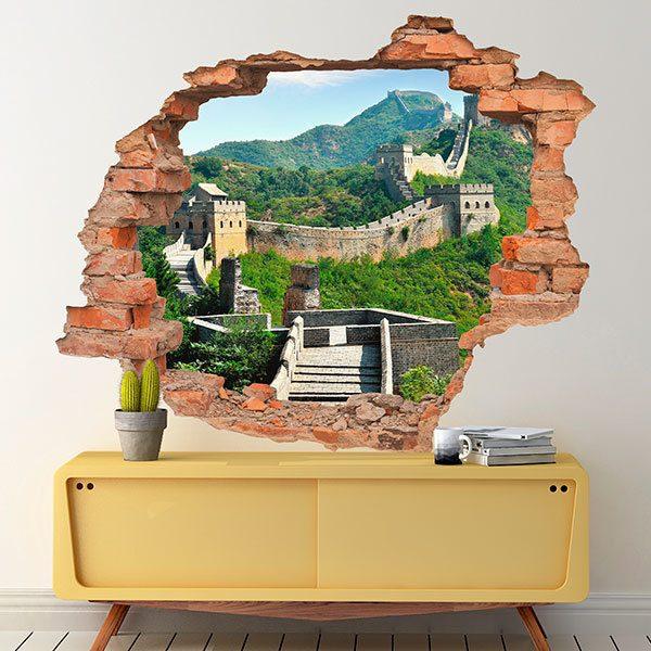 wandtattoo loch gro e mauer von china. Black Bedroom Furniture Sets. Home Design Ideas